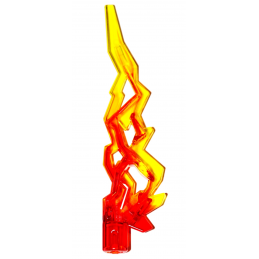 LEGO 6016236 FLAMME 3X10X1 W/ CROSS - ROUGE/JAUNE