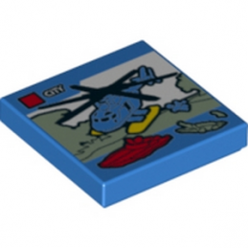 LEGO 6120258 PLAQUE LEGO CITY 2X2
