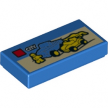 LEGO 6120262 PLAQUE LEGO CITY 1X2