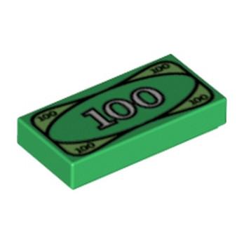 LEGO 4295260 BILLET DE 100 1X2 - VERT