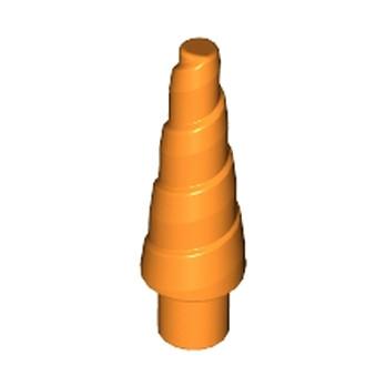 LEGO 6100397 CORNE SPIRALE 1.5 CM - ORANGE