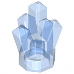 LEGO 4243703 ROCK CRYSTAL - BLEU MEDIUM TRANSPARENT