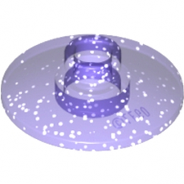 LEGO 6093752 -   PARABOLIC ELEMENT Ø16 - Violet Transparent Glitter