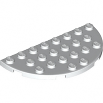 LEGO 6138699 - 1/2 Rond Plat 4X8 - Blanc
