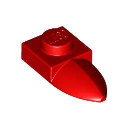 LEGO 6078640 DENT /GRIFFE 1X1 - ROUGE