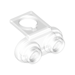 LEGO 6100958 BACK PLATE W.2 KNOBS FOR TEXTILE  - TRANSPARENT