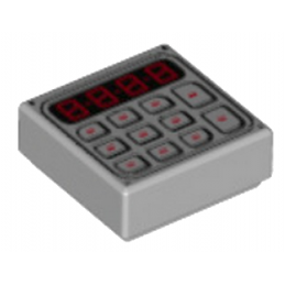LEGO 6142309 CLAVIER 1X1 IMPRIME - MEDIUM STONE GREY