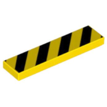 LEGO 4119091 PLAQUE IMPRIME SIGNALISATION 1X4 - JAUNE/NOIR