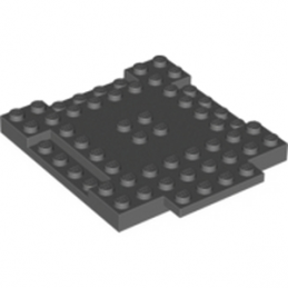 LEGO 6063310 PLAQUE 8X8X6 - DARK STONE GREY lego-6063310-plaque-8x8x6-dark-stone-grey ici :
