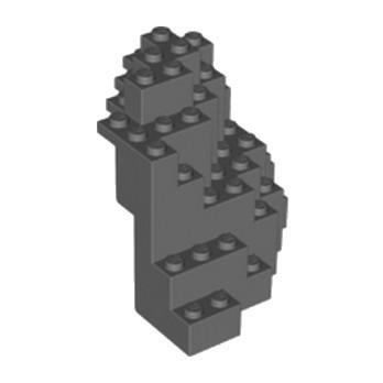 LEGO 6138752 ROCHER MONTAGNE 8X8X6  - DARK STONE GREY