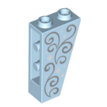 6135544 - Tuile Inversé 75° 2 x 1 x 3 - Bleu Royal