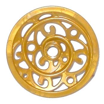 LEGO 6058138 ROUE DE CAROSSE 4.3 cm - WARM GOLD