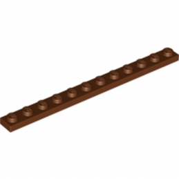 LEGO 6055145 - PLATE 1X12 - REDDISH BROWN