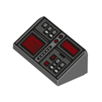 6152814 - Tuile 31° 1 x 2 x 0.66 - Gris foncé