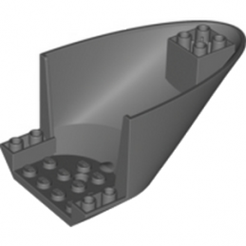 LEGO 6025392 FUSELAGE D'AVION COURBE ARRIERE BAS 6X10X4 - DARK STONE GREY