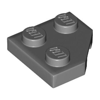 6164073 - PLATE 2X2, CORNER, 45 DEG. - GRIS FONCE