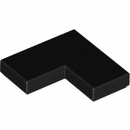 6133722 - Plate Lisse Angle 1X2X2 - Noir