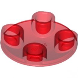 LEGO 6171008 - ROND LISSE 2X2 INV  - Rouge Transparent