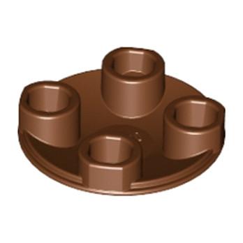 6037289 - SLIDE SHOE ROUND 2X2 - Marron lego-6037289-rond-lisse-2x2-inv-reddish-brown ici :