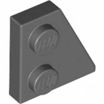 LEGO 6143417 - Plate 2x2 27DEG Droite - Dark Stone Grey
