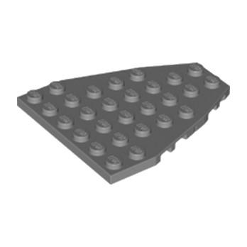 LEGO 4285227 - STEM PLATE 7X6 W/COR. - Dark Stone Grey