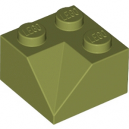 LEGO 6193947 TUILE 2X2/45° INSIDE - OLIVE GREEN