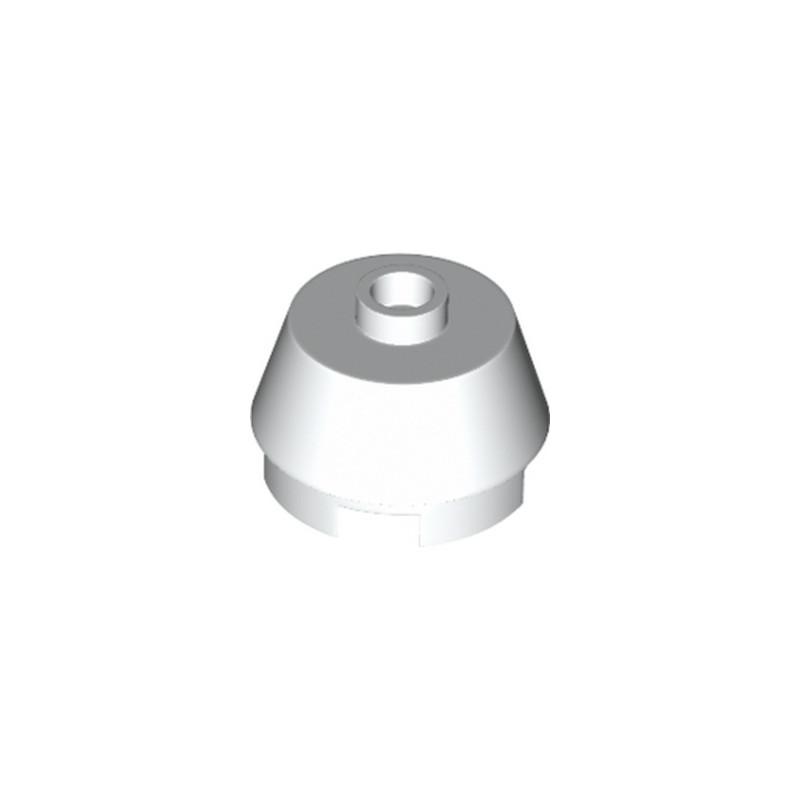 LEGO 4649167 2X2 ROUND,SLOPE BRICK W. KNOB - BLANC