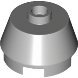 LEGO 6028324  2X2 ROUND,SLOPE BRICK W. KNOB - MEDIUM STONE GREY