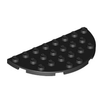 LEGO 6133200 - 1/2 Rond Plat 4X8 - Noir
