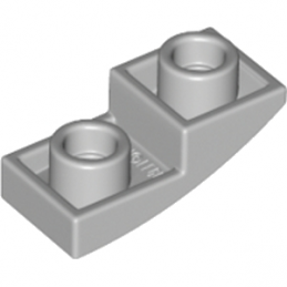 LEGO 6144138 - DOME INV. 1X2X2/3 - MEDIUM STONE GREY