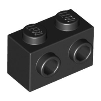 LEGO 6138173 BRIQUE 1X2 W. 2 KNOBS - NOIR