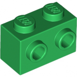 LEGO 6129807 BRIQUE 1X2 W. FOUR KNOBS - DARK GREEN
