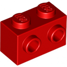 LEGO 6019155 BRIQUE 1X2 W. 2 KNOBS - ROUGE