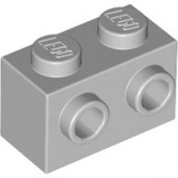 LEGO 6015344 BRIQUE 1X2 W. 2 KNOBS - MEDIUM STONE GREY