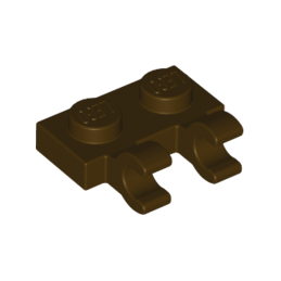LEGO 6167941 - PLATE 1X2 W/HOLDER, VERTICAL - DARK BROWN