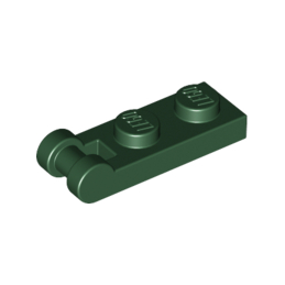 LEGO 6130035 PLATE 1X2 W/SHAFT Ø3.2 - EARTH GREEN