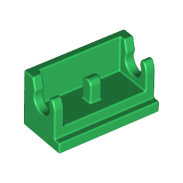 LEGO 4217438  ROCKER BEARING 1X2 - DARK GREEN