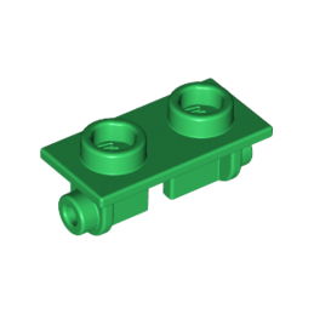 LEGO 6170768 PLATE 1X2 (ROCKING) - DARK GREEN