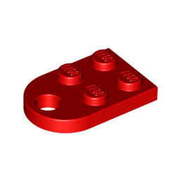 LEGO 4188189 COUPLING PLATE 2X2  - ROUGE