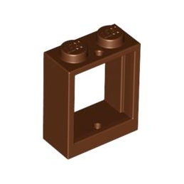 LEGO 4595814 - FENETRE 1X2X2 - REDDISH BROWN