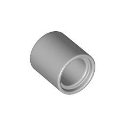 LEGO 6183784 TUBE BEAM 1X1 - MEDIUM STONE GREY