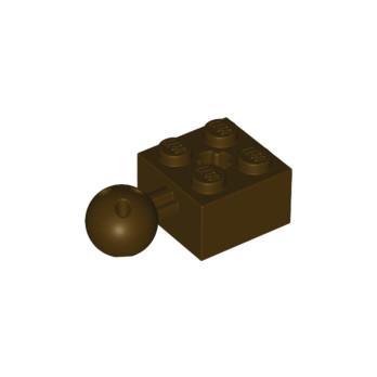 LEGO 6045909 - BRICK 2X2 W. BALL Ø 10.2 - Dark Brown