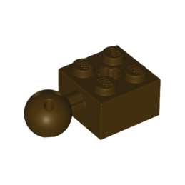 LEGO 6045909 - BRICK 2X2 W. BALL Ø 10.2 - Dark Brown