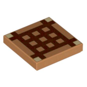 6097003 - Plate Lisse 22 Imprimé Minecraft