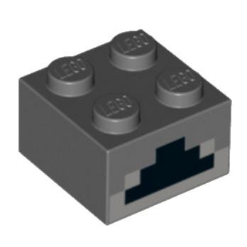 6097032 - Brique 2x2 Imprimé - Minecraft