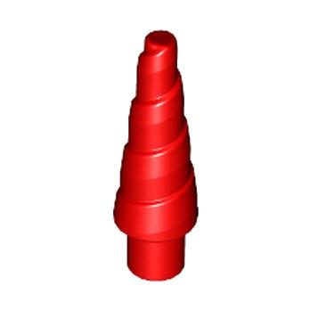 LEGO 6055617 CORNE SPIRALE 1.5 CM - ROUGE