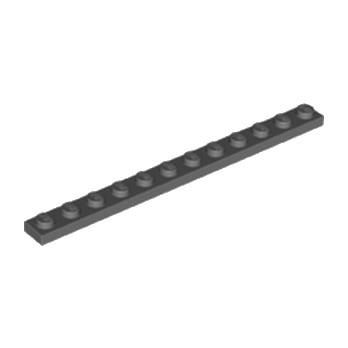 LEGO 6133611 PLATE 1X12 - DARK STONE GREY