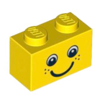 LEGO 4520848 BRIQUE 1X2 - VISAGE