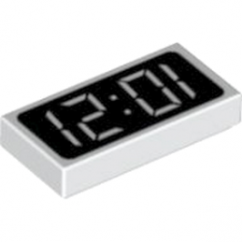 81268 - Plate Lisee 1X2 -  Horloge
