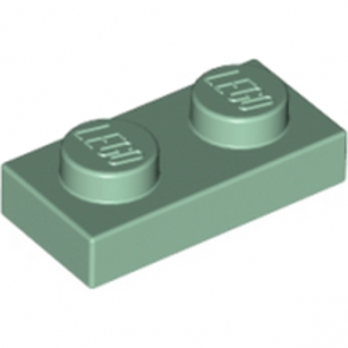 LEGO 4655080 PLATE 1X2 - SAND GREEN lego-4655080-plate-1x2-sand-green ici :